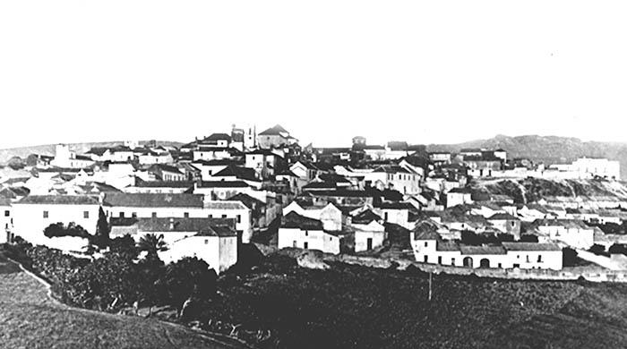 Vista de San Roque en la segunda mitad del siglo XIX. Foto de Jean Laurent