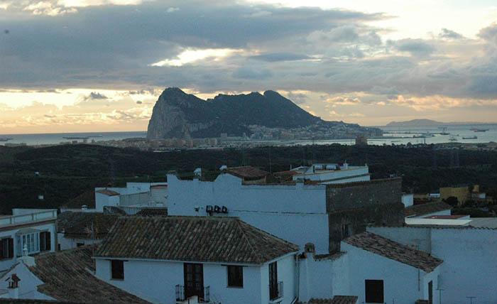 Vista del Peñón desde San Roque