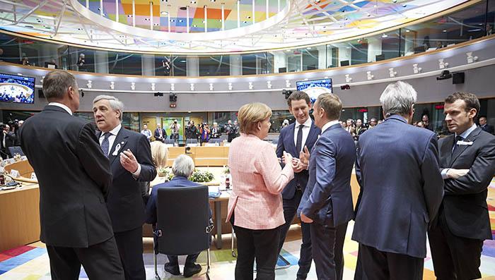 Vista general antes de la sesión del Consejo Europeo, celebrado ayer y hoy en Bruselas