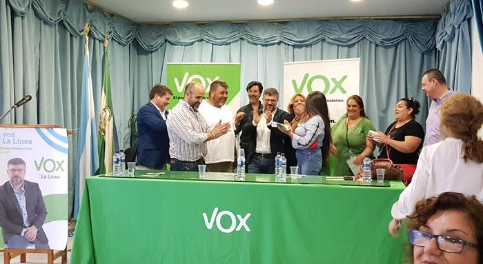 Presentación de la candidatura municipal de Vox en La Línea