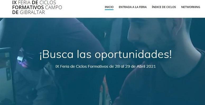 Página web de la Feria de Ciclos Formativos. Foto: lalínea.es