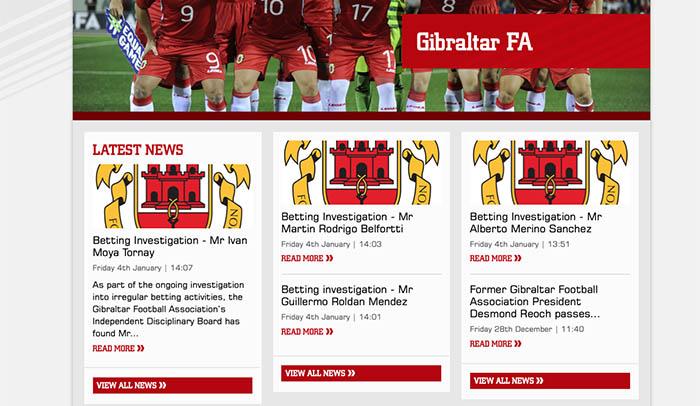 La web de la federación gibraltareña informa de las sanciones