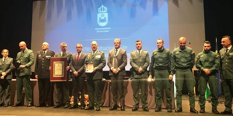 La Guardia Civil fue homenajeada por La Línea el 19 de enero