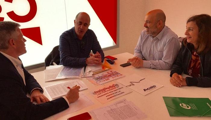 Javier Cano se ha reunido con delegados sindicales del sector penitenciario