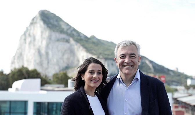 Inés Arrimadas y Luis Garicano, este sábado en La Línea