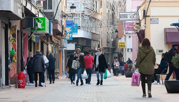 Una imagen de esta mañana en un tramo de la calle San Pablo de La Línea