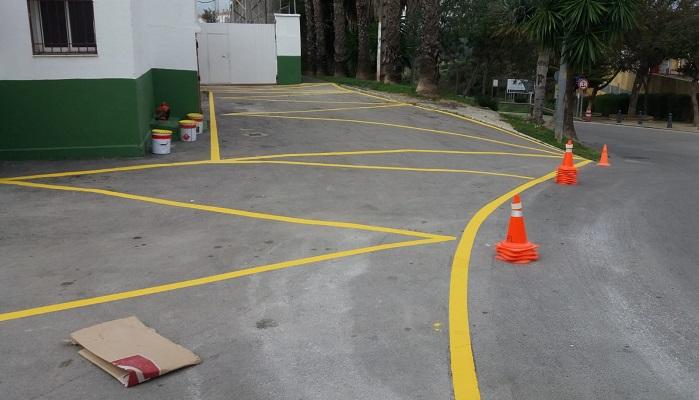 Deportes delimita los aparcamientos en las instalaciones deportivas