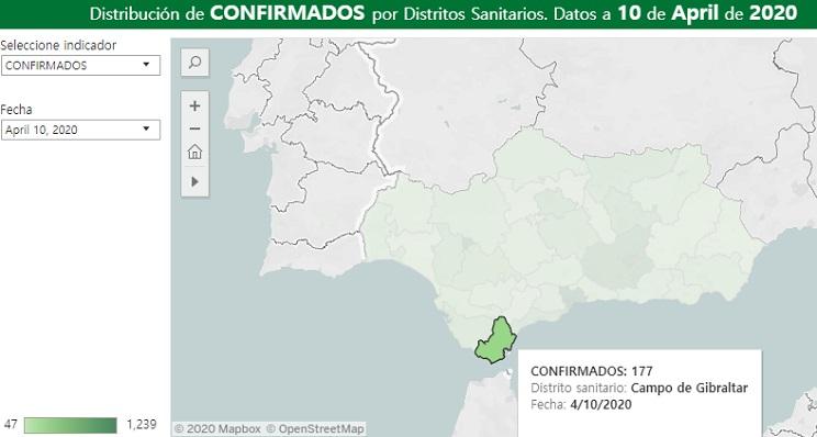 La Junta ha confirmado los casos del Campo de Gibraltar a fecha de 10 de abril