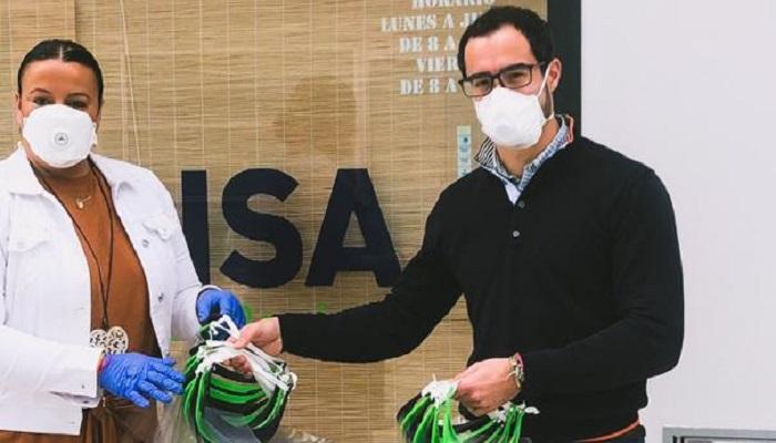 Impulsa dona al Ayuntamiento de Algeciras cien pantallas de protección facial
