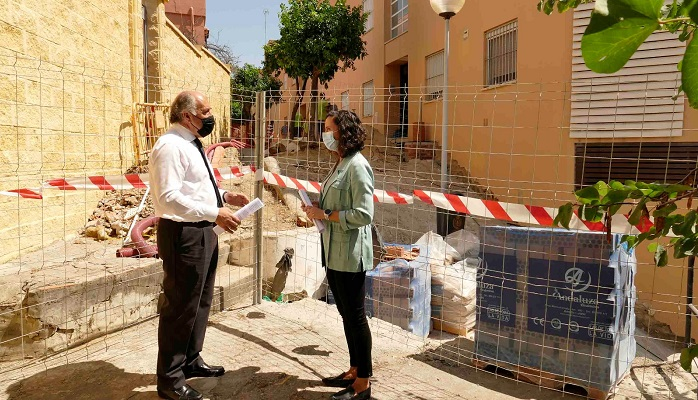 Arrancan las obras de pavimentación en la glorieta de la Mutua de Ceuta