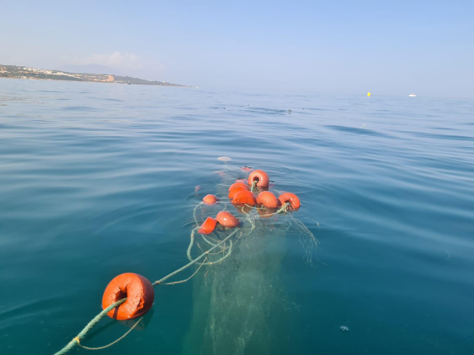 Redes del fondo marino a la deriva. Foto NG