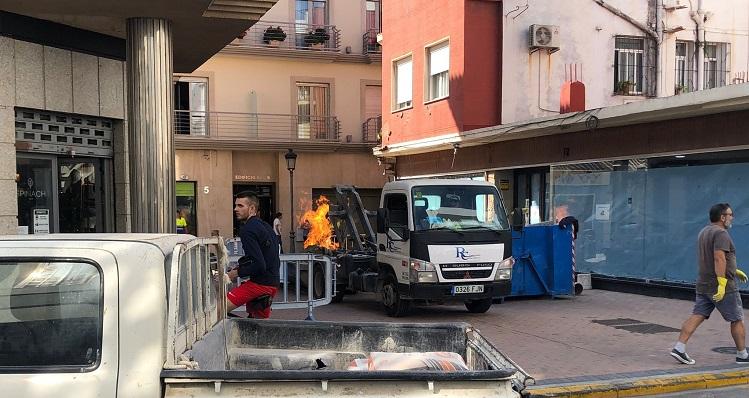 Una imagen nada más iniciarse el incendio. Foto: Sergio Rodríguez