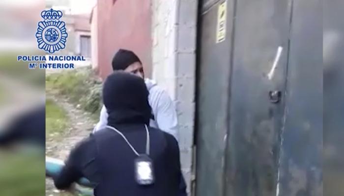 Imagen de la operación desarrollada por la Policía Nacional en Algeciras