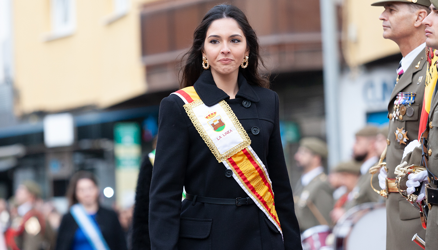 Carmen Garcia Heredia, reina de la Velada y Fiestas 2019, también estuvo en la jura. Foto Sergio Rodríguez