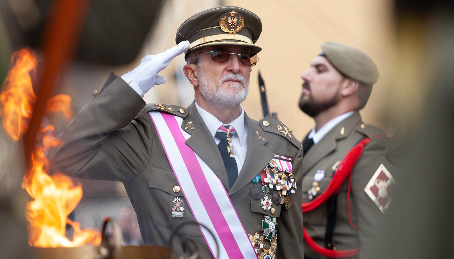 El general de división y linense de nacimiento Antonio Romero. Foto Sergio Rodríguez
