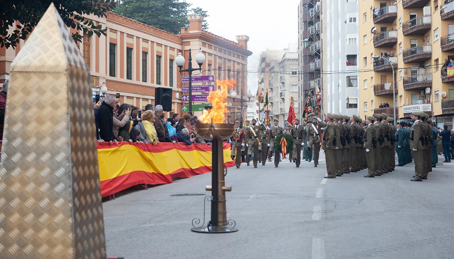 Homenaje a los caídos. Foto Sergio Rodríguez