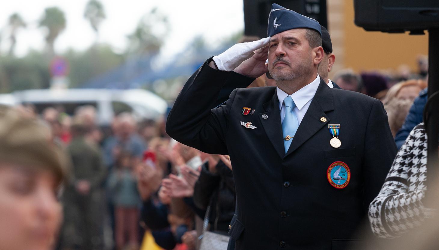 Veteranos en el acto. Foto Sergio Rodríguez