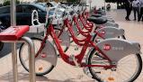 Imagen de archivo de bicicletas de alquiler