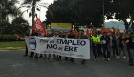 Un millar de personas se manifiesta en Algeciras por el expediente de Acerinox