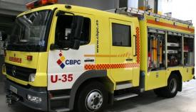 Una persona atendida y un perro fallecido tras un incendio en Algeciras