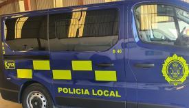Furgón de la Policía Local de Algeciras. Foto NG
