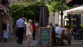 La hostelería en Gibraltar sufre también las consecuencias del Covid. Foto: Sergio Rodríguez