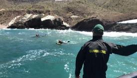 Grupo de submarinistas de la Guardia Civil. Foto NG