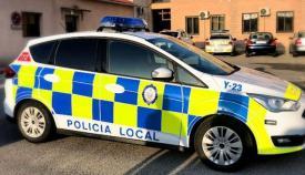 Vehículo de la Policía Local. Foto NG