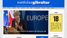 Primera portada de Noticias Gibraltar, hace un año