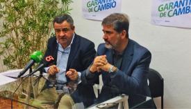 José Loaiza y Juan Pablo Arriaga, en rueda de prensa en La Línea