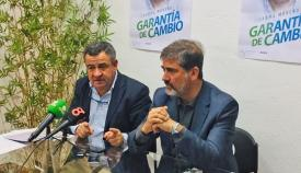 Juan Pablo Arriaga junto a Pepe Loaiza en rueda de prensa