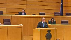 El alcalde de Algeciras y senador, José Ignacio Landaluce, interviniendo en el Senado