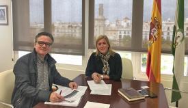 Eva Pajares, reunida con Juan Gómez