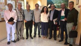 Los miembros de Adelante Andalucía con los del Grupo Transfronterizo