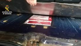 El tabaco, oculto en el maletero del coche