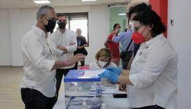La comarca vota al candidato del PSOE a la Junta en las Primarias