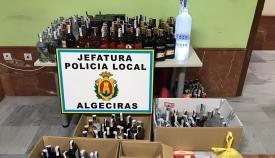 La Policía de Algeciras interviene casi 500 botellas de bebidas alcohólicas