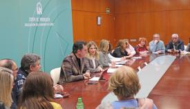 Imagen de la reunión entre la Junta y colectivos de toda la provincia