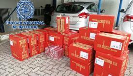 Imagen de archivo de un cargamento de tabaco de contrabando
