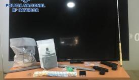 Objetos incautados por la Policía Nacional en la operación