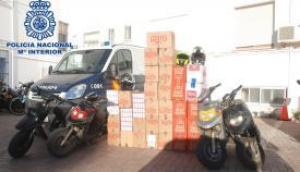 Los contrabandistas transportaban el tabaco en ciclomotores