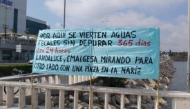 Agaden denuncia vertidos de aguas residuales sin depurar en Algeciras a diario