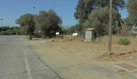 Uno de los lugares limpiados por los operarios municipales.