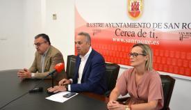 Ángel Gavino, Juan Carlos Ruiz Boix y Ana Ruiz.