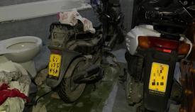 La Policía localizó varios motocicletas a los detenidos. Foto: Policía Nacional