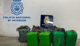 La mercancía incautada por la Policía Nacional. Foto: Interior