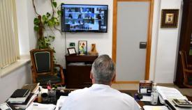 Riuz Boix, durante una videoconferencia con la Diputación
