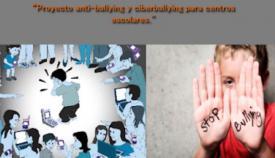 """Parte del cartel de """"Stop Bullying y Ciberbullying"""""""
