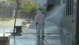 Labores de desinfección en San Roque