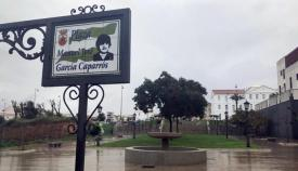 Plaza dedicada en San Roque a la memoria de García Caparrós